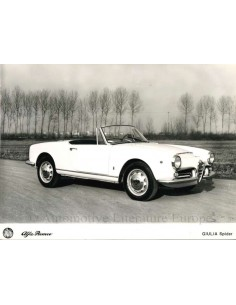 1962 ALFA ROMEO GIULIA SPIDER PRESS PHOTO