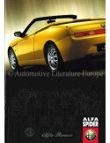1999 ALFA ROMEO SPIDER BROCHURE DUITS