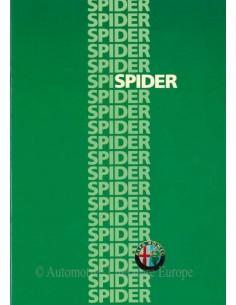 1986 ALFA ROMEO SPIDER QV BROCHURE DUTCH