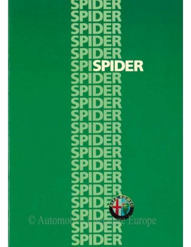 1986 ALFA ROMEO SPIDER BROCHURE NEDERLANDS