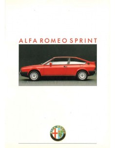 1988 ALFA ROMEO SPRINT QV BROCHURE NEDERLANDS