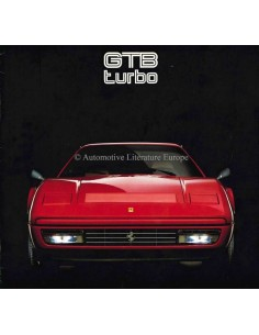 1986 FERRARI GTB TURBO BROCHURE 427/86
