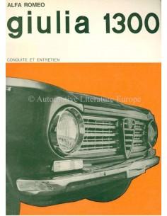 1967 ALFA ROMEO GIULIA 1300 OWNERS MANUAL FRENCH