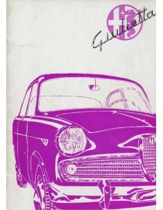 1961 ALFA ROMEO GIULIETTA INSTRUCTIEBOEKJE