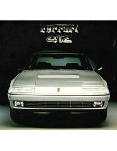 1985 FERRARI 412 BROCHURE 354/85