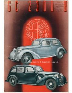 1938 ALFA ROMEO 6C 2300 B BROCHURE FRANS