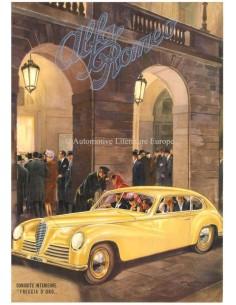 1947 ALFA ROMEO 6C SPORT FRECCIA D'ORO DATENBLATT FRANZÖSISCH