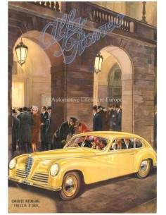 1947 ALFA ROMEO 6C SPORT FRECCIA D'ORO LEAFLET FRANS