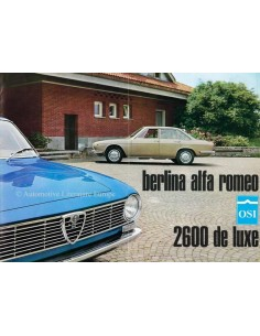 1966 ALFA ROMEO OSI 2600 BERLINA DE LUXE BROCHURE