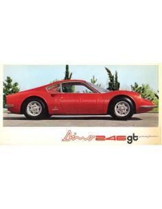 1969 FERRARI DINO 246 GT PININFARINA BROCHURE