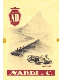 1947 NARDI ND 750 BROCHURE ITALIAN
