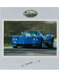 2002 PAGANI ZONDA S 7.3 PRESS CD