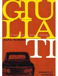 1965 ALFA ROMEO GIULIA 1600 TI OWNERS MANUAL FRENCH