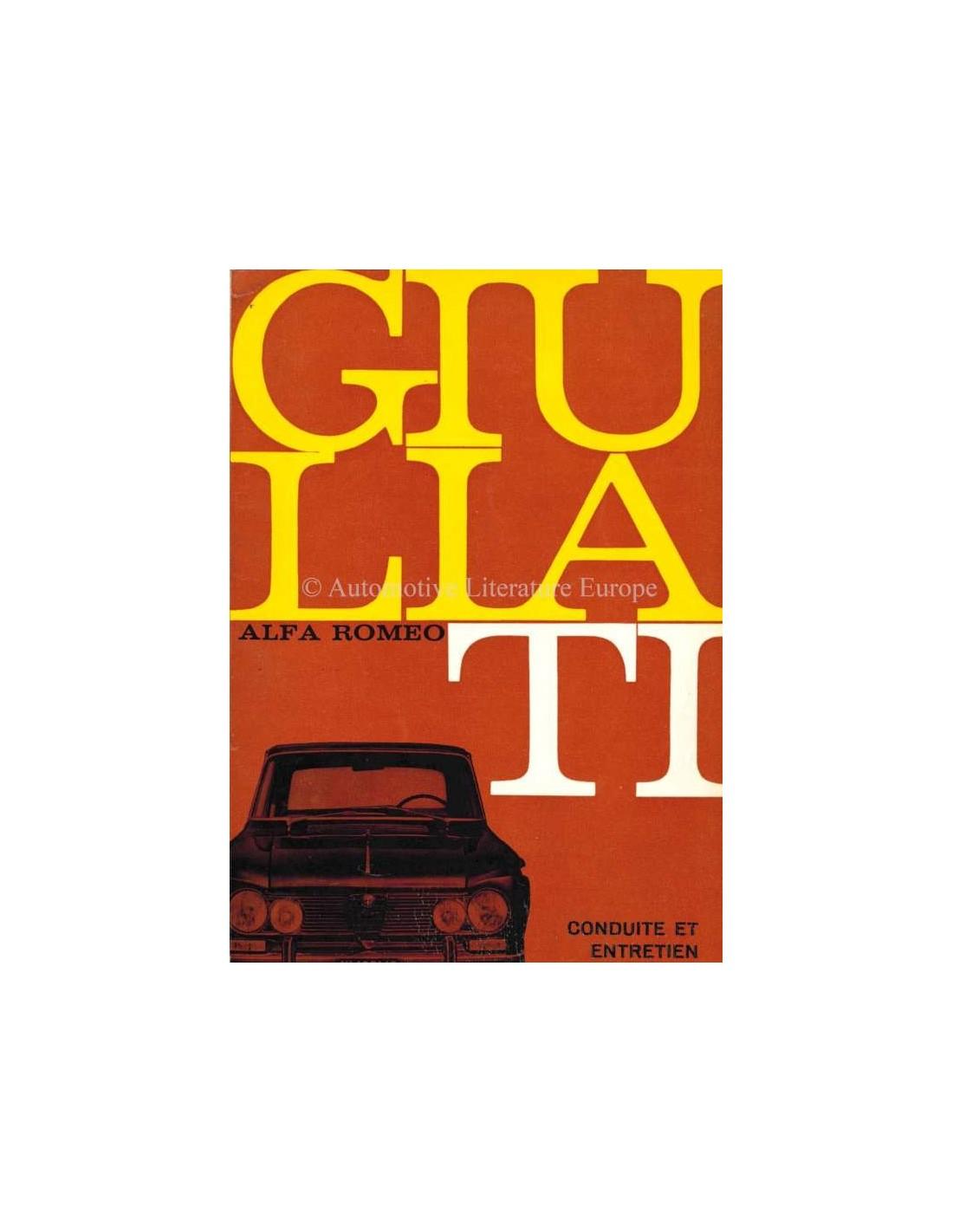 1965 ALFA ROMEO GIULIA 1600 TI INSTRUCTIEBOEKJE FRANS