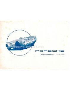 1954 PORSCHE 550 SPYDER / 1500 RS PROSPEKT DEUTSCH