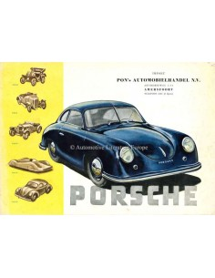 1949 PORSCHE 356 BROCHURE GERMAN