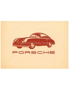 1951 PORSCHE 356 BROCHURE GERMAN