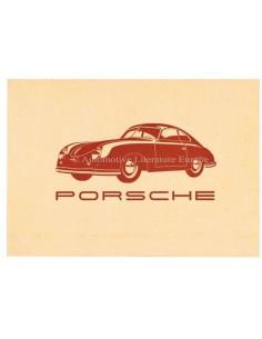 1950 PORSCHE 356 BROCHURE DUITS