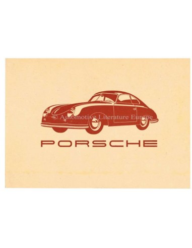 1950 PORSCHE 356 BROCHURE GERMAN
