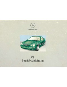 2001 MERCEDES BENZ CL CLASS OWNERS MANUAL GERMAN