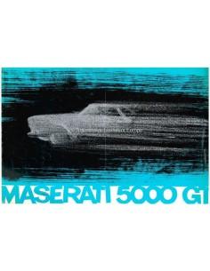1959 MASERATI 5000 GT COUPE 2+2 INIEZIONE BROCHURE