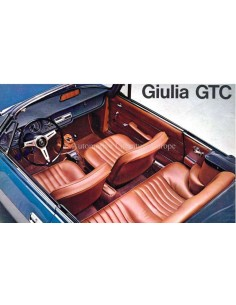 1965 ALFA ROMEO GIULIA GTC BROCHURE ITALIAN
