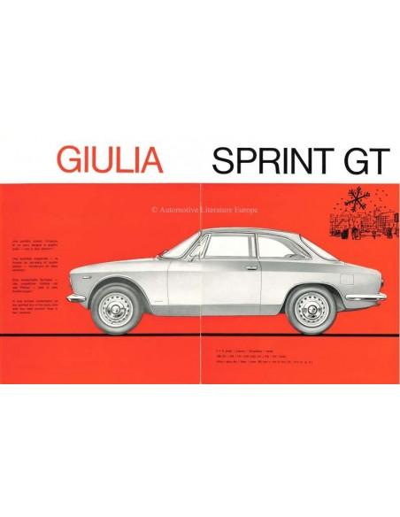 1965 Alfa Romeo Giulia Sprint Gt Gtc Brochure