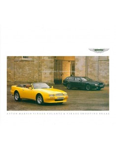 1992 ASTON MARTIN VIRAGE VOLANTE & SHOOTING BRAKE BROCHURE ENGLISH
