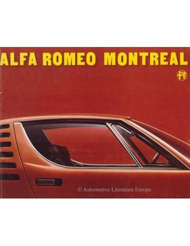 1971 ALFA ROMEO MONTREAL BROCHURE NEDERLANDS