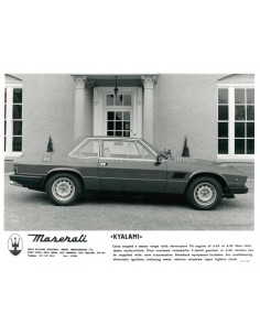 1980 MASERATI KYALAMI PRESS PICTURE