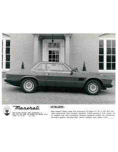 1980 MASERATI KYALAMI PRESSE BILD
