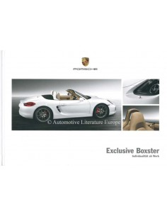 2013 PORSCHE BOXSTER EXCLUSIVE HARDBACK BROCHURE GERMAN
