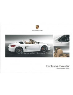 2013 PORSCHE BOXSTER EXCLUSIVE HARDBACK BROCHURE DUTCH