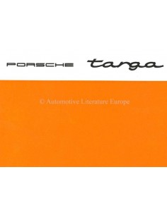 1967 PORSCHE 912 / 911 / 911 L TARGA OWNERS MANUAL SUPPLEMENT ENGLISH