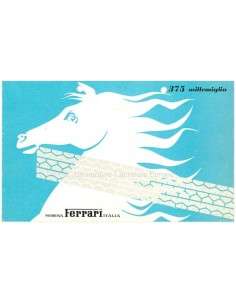1953 FERRARI 375 MILLEMIGLIA BROCHURE ITALIAANS