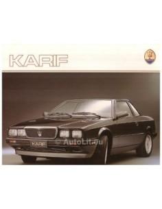 1988 MASERATI KARIF BROCHURE DUITS