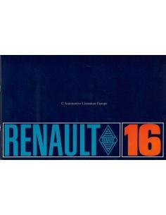 1965 RENAULT 16 BROCHURE DUTCH