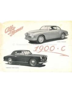 1951 ALFA ROMEO 1900SC LEAFLET