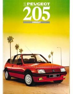1988 PEUGEOT 205 CABRIO BROCHURE NEDERLANDS