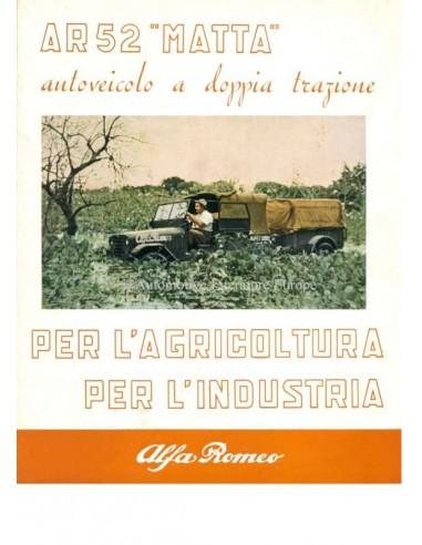"1952 ALFA ROMEO AR52 ""MATTA"" BROCHURE"