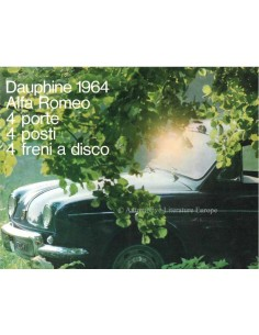 1964 ALFA ROMEO DAUPHINE BROCHURE ITALIAN
