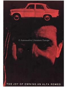 1960 ALFA ROMEO GIULIETTA PROSPEKT ENGLISCH