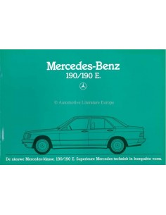 1983 MERCEDES BENZ 190 / 190E BROCHURE DUTCH
