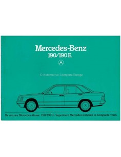 1982 MERCEDES BENZ 190 / 190E BROCHURE DUTCH