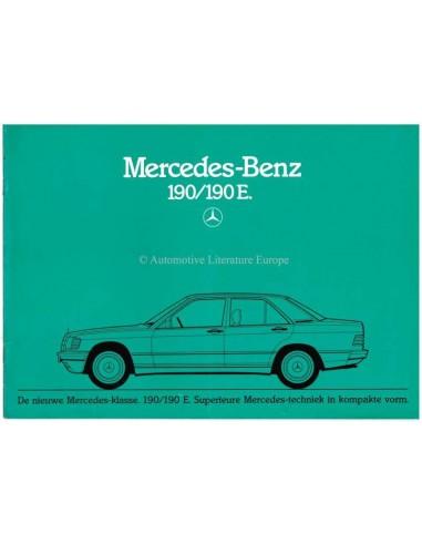 1982 MERCEDES BENZ 190 / 190E BROCHURE DUTCH