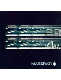 1992 MASERATI 222 SR - 222 4V BROCHURE ENGELS SPAANS