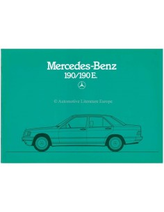 1984 MERCEDES BENZ 190 / 190E BROCHURE FRENCH