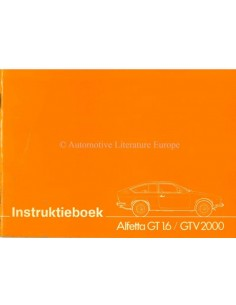 1976 ALFA ROMEO ALFETTA GT 1.6 GTV 2000 OWNERS MANUAL DUTCH