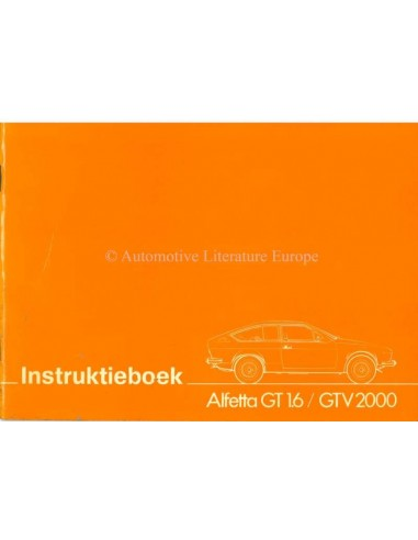 1976 ALFA ROMEO ALFETTA GT / GTV INSTRUCTIEBOEKJE NEDERLANDS