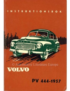 1957 VOLVO PV 444 OWNERS MANUAL SWEDISH